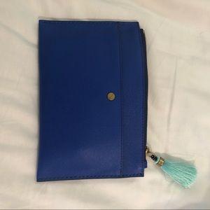 J Crew Italian leather medium pouch
